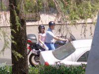 Honda Transalp Io e mia figlia