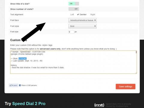SpeedDial2 Screenshot 03 Options 2 of 2