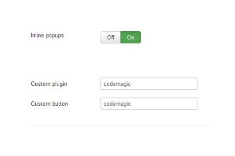 CodeMagic 02 Joomla Plugin Settings