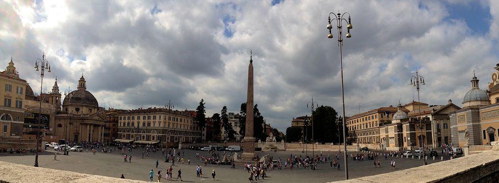 Piazza del Popolo-Roma (iPhone Panorama)